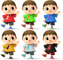 Villager SSB4 Recolors by shadowgarion