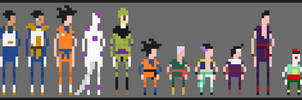 Dragon Ball z Pixel Sprites