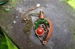 Tree of Life Necklace, Bonsai Tree Pendant, Jasper