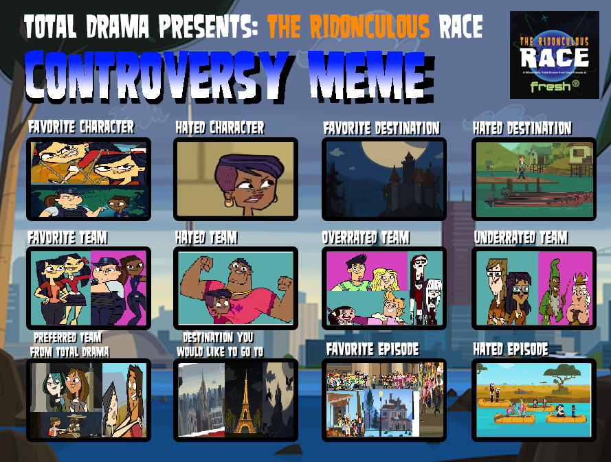 Ridonculous Race Controversy Meme by PrincessGemSquirrel ...