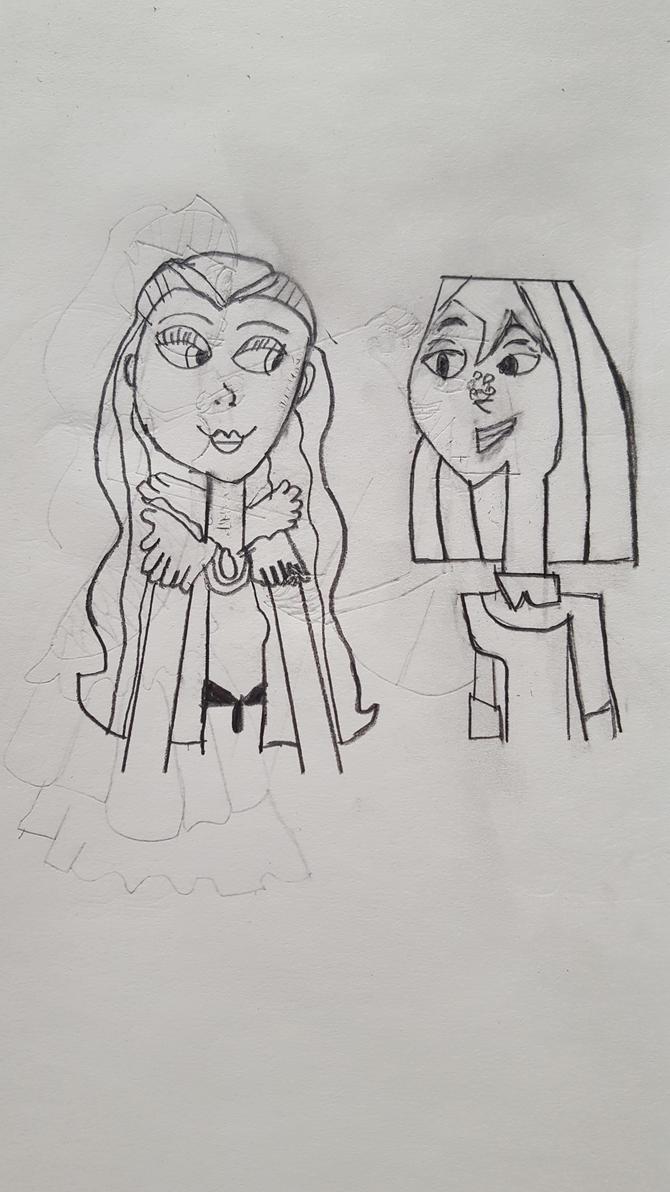 Raven x Courtney Sketch by DisneySquirrelGem