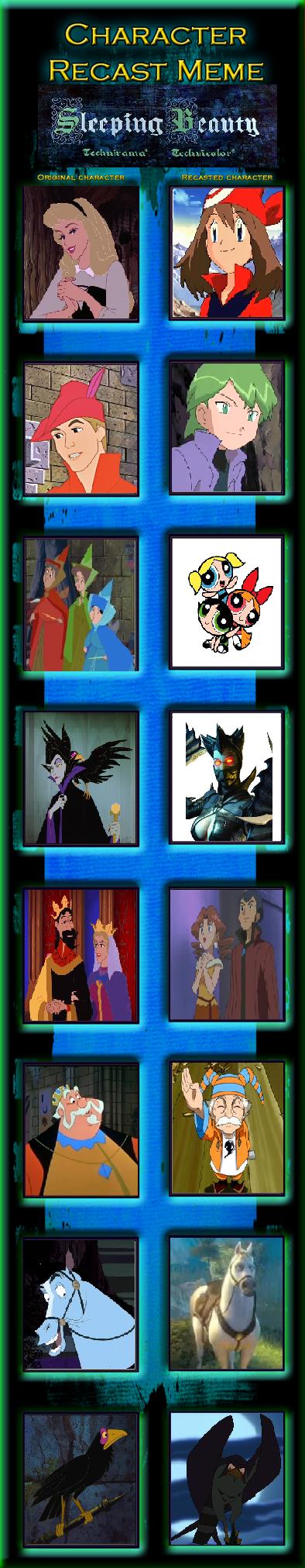 Character Recast Meme: Sleeping May by PrincessGemSquirrel