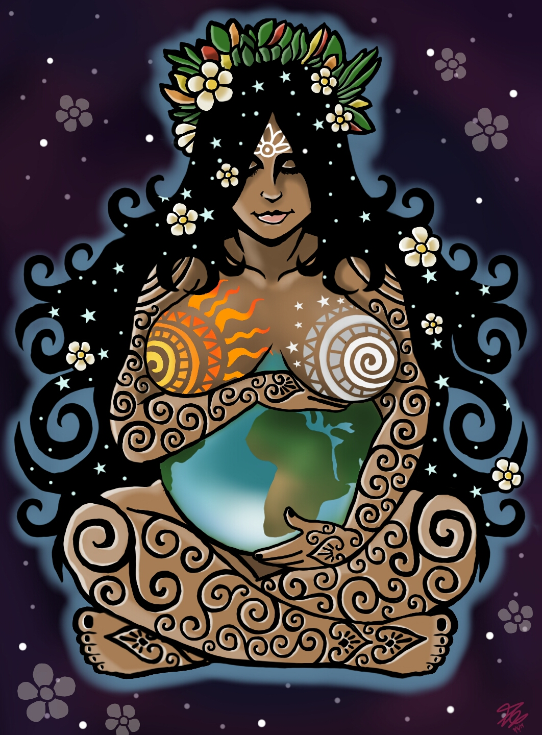 mother earth by orupsia on deviantart