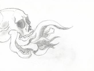 Tentacle Skull Sketch 30-11-17 by sacerludum