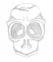 Skull 03-11-2017 by sacerludum