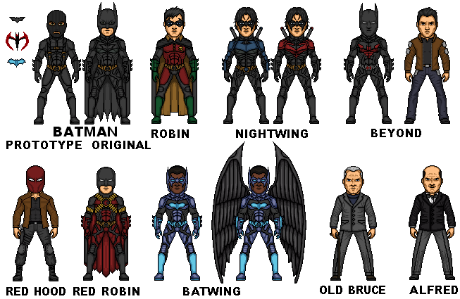 Bat Family Young Justice Bat-family nolanised byYoung Justice Bat Family