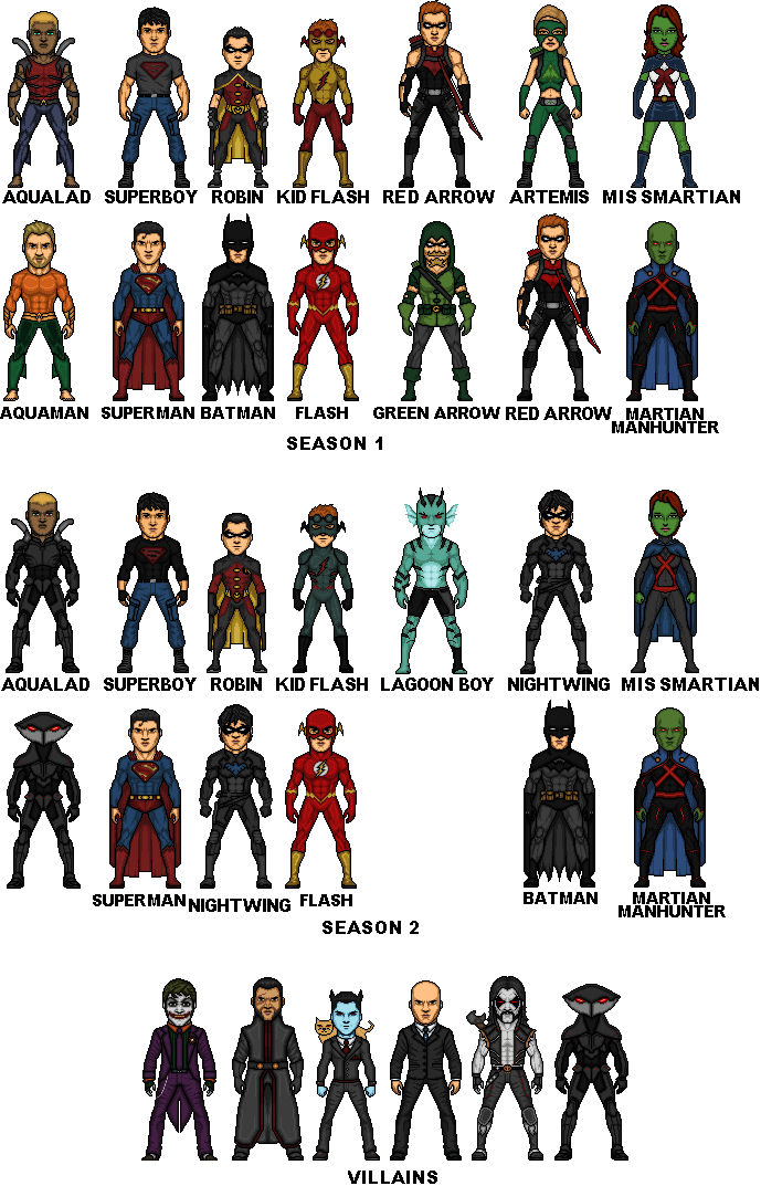 Young Justice Final by MicroTraceour on DeviantArt Young Justice Season 3 Characters List