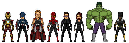 Marvel- The Avengers by MicroTraceour
