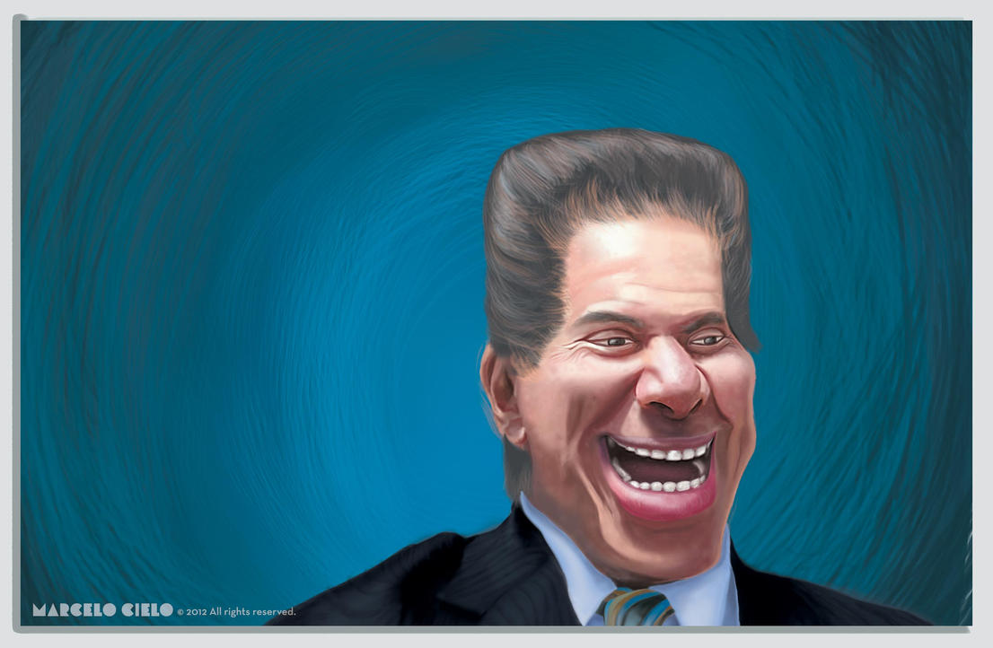 Caricature presenter Silvio Santos by MarceloCielo