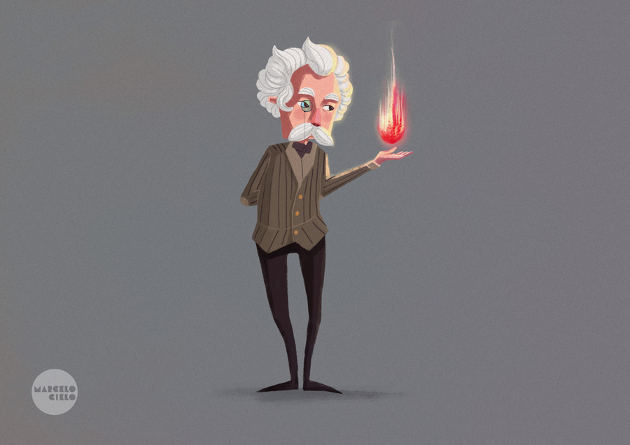 Instructor of Magic Flames - Character Design by MarceloCielo