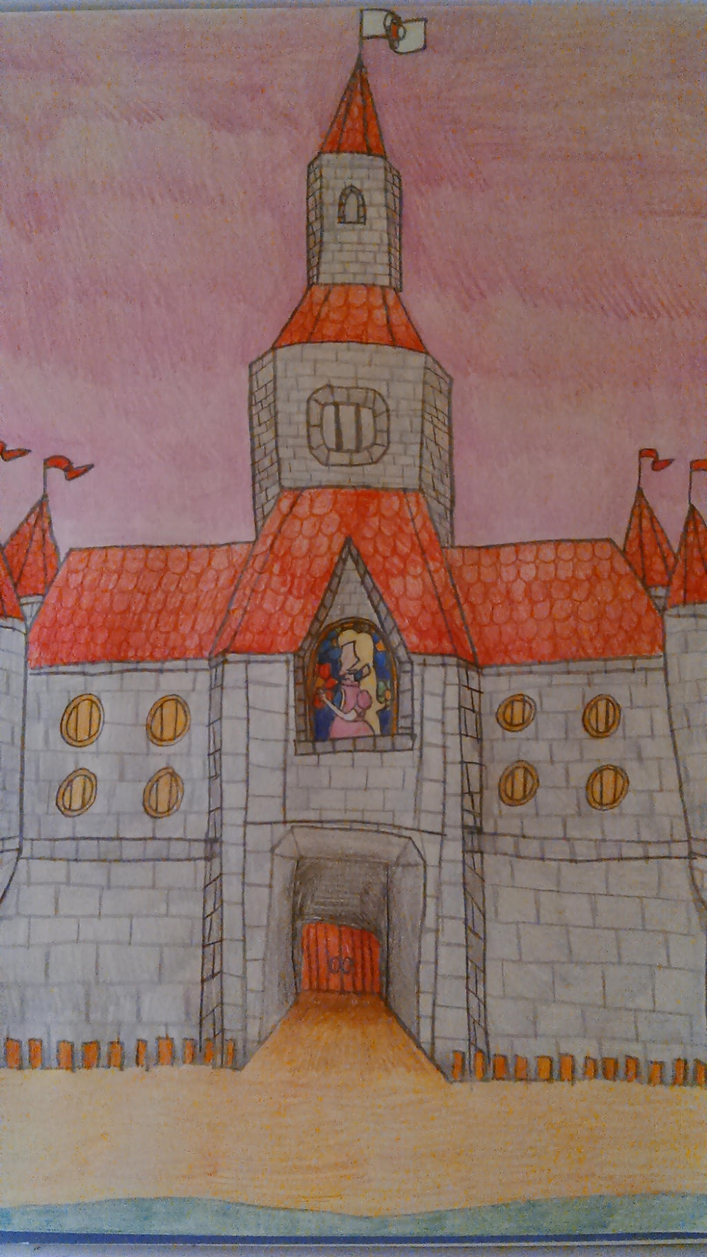 Princess Peach S Castle By Mrdeviantarter On Deviantart