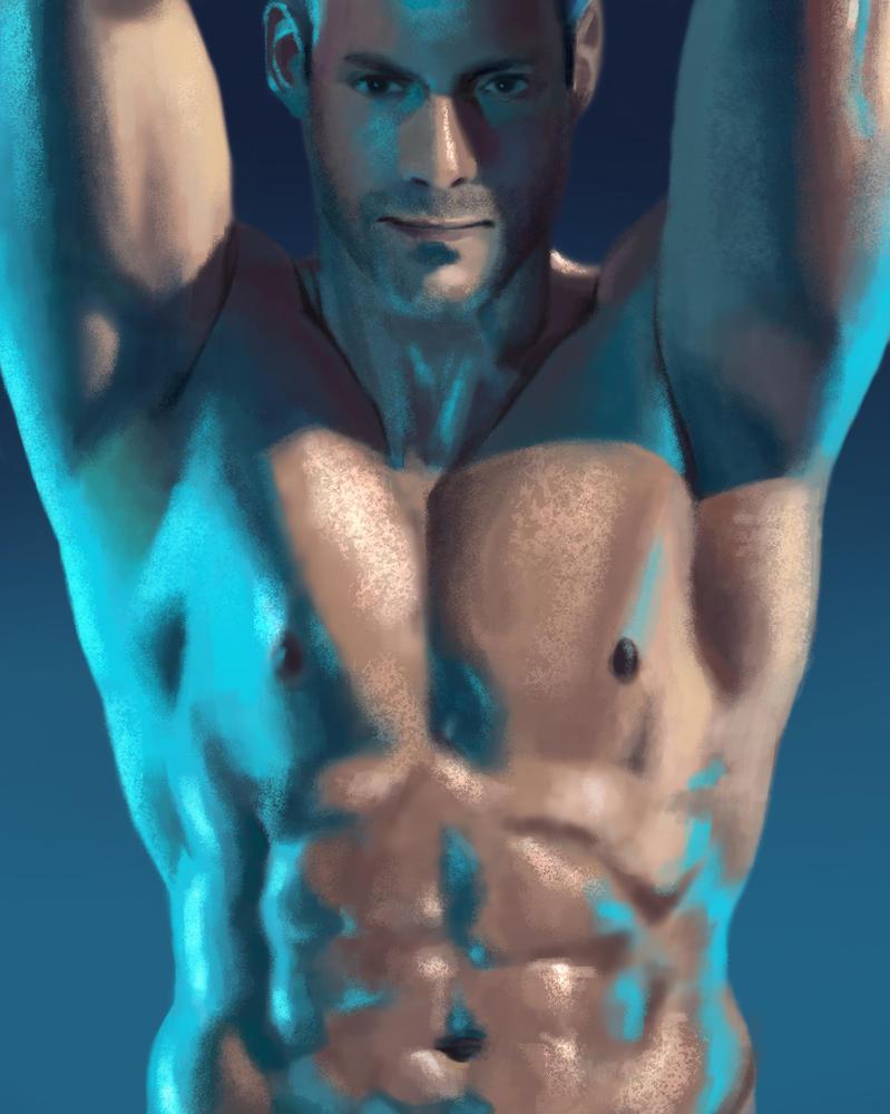Male Torso Study by Psichodelic