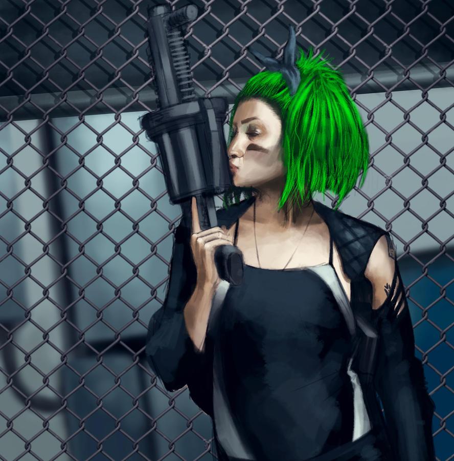 Green Hair by Psichodelic