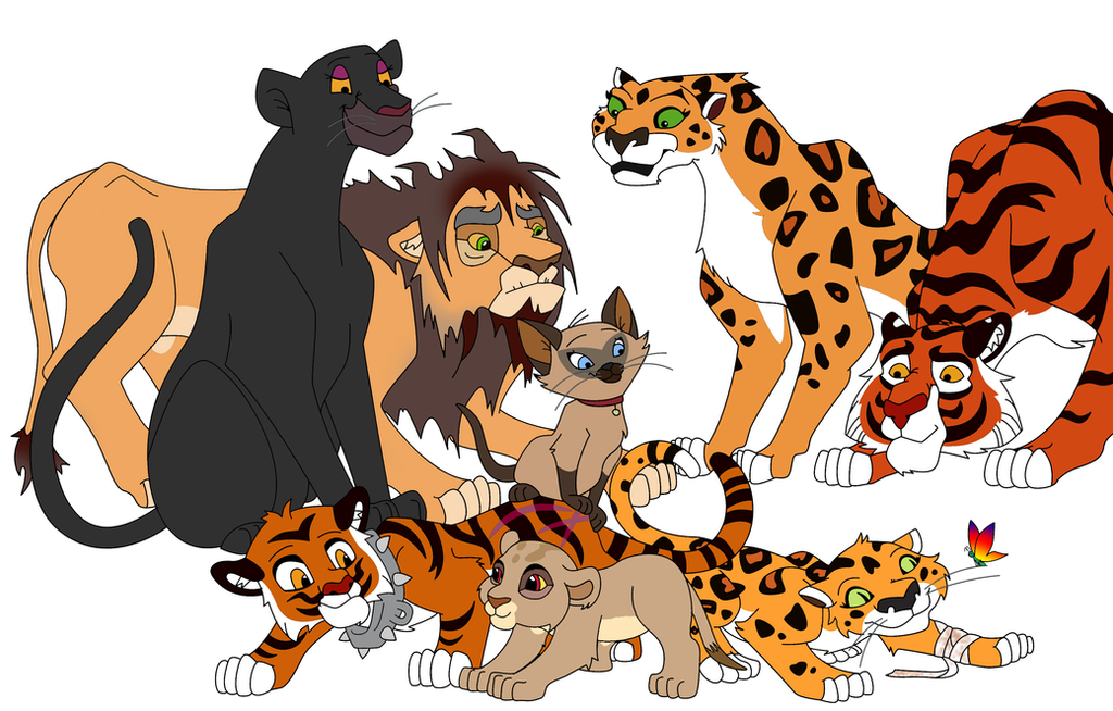 Disney big cats and cubs by dawnbluedragon on deviantart