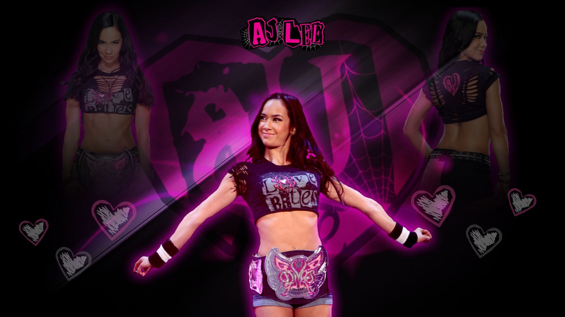 AJ Lee Wallpaper by RKv15