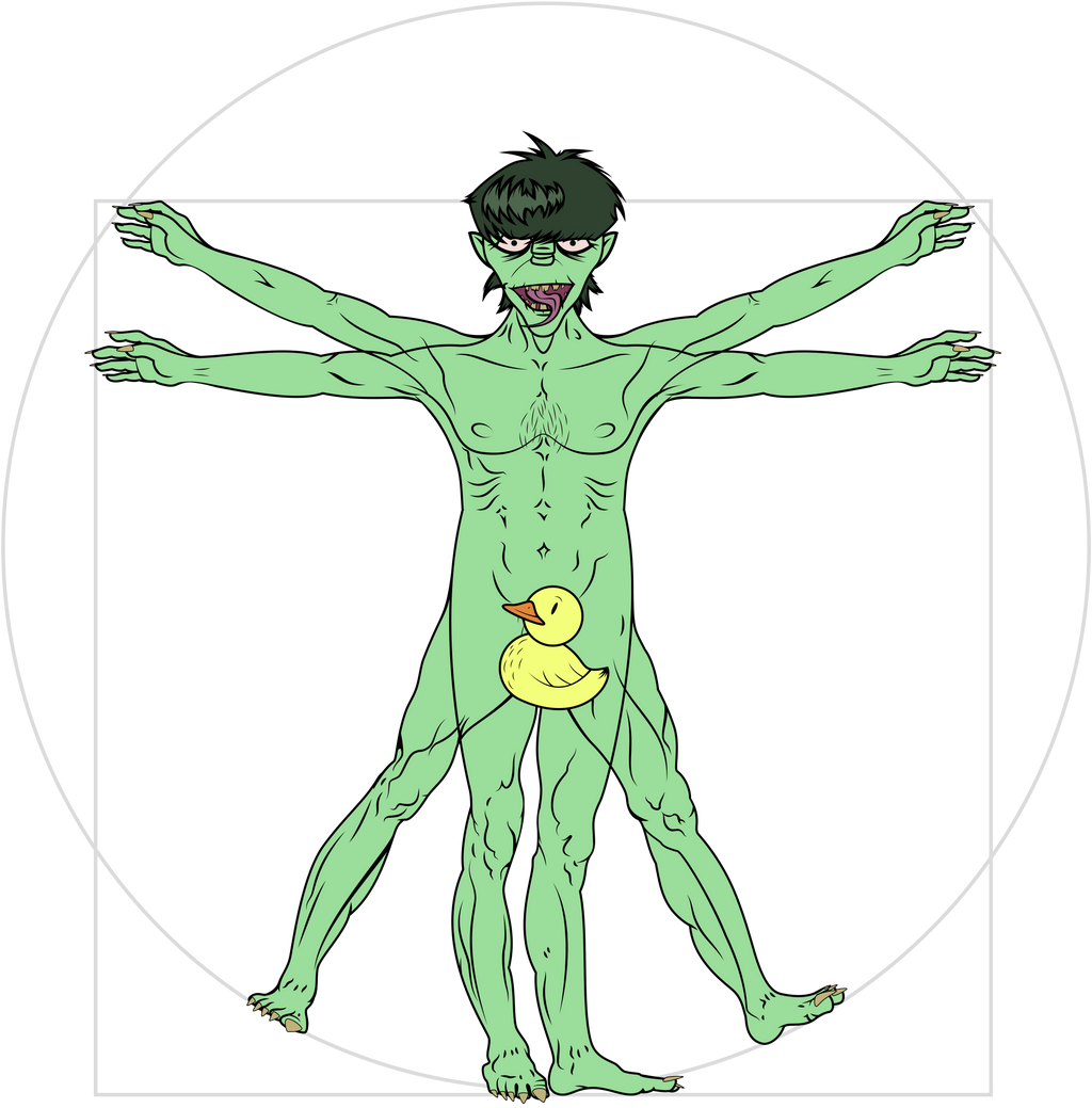 Vitruvian Murdoc (censored) by DasRuedi on DeviantArt