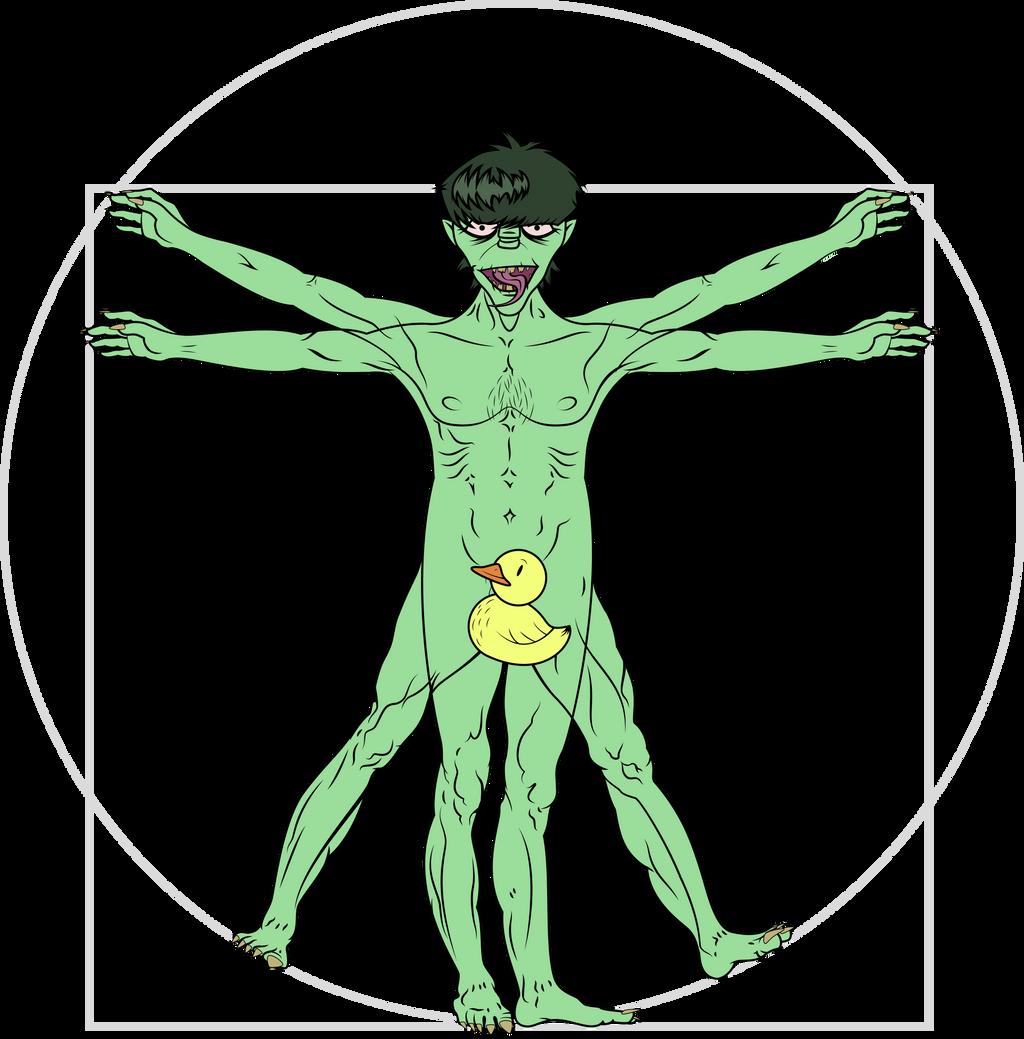 Vitruvian Murdoc (censored) by DasRuedi on DeviantArt