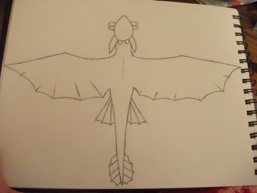how to train your dragon night fury sketch