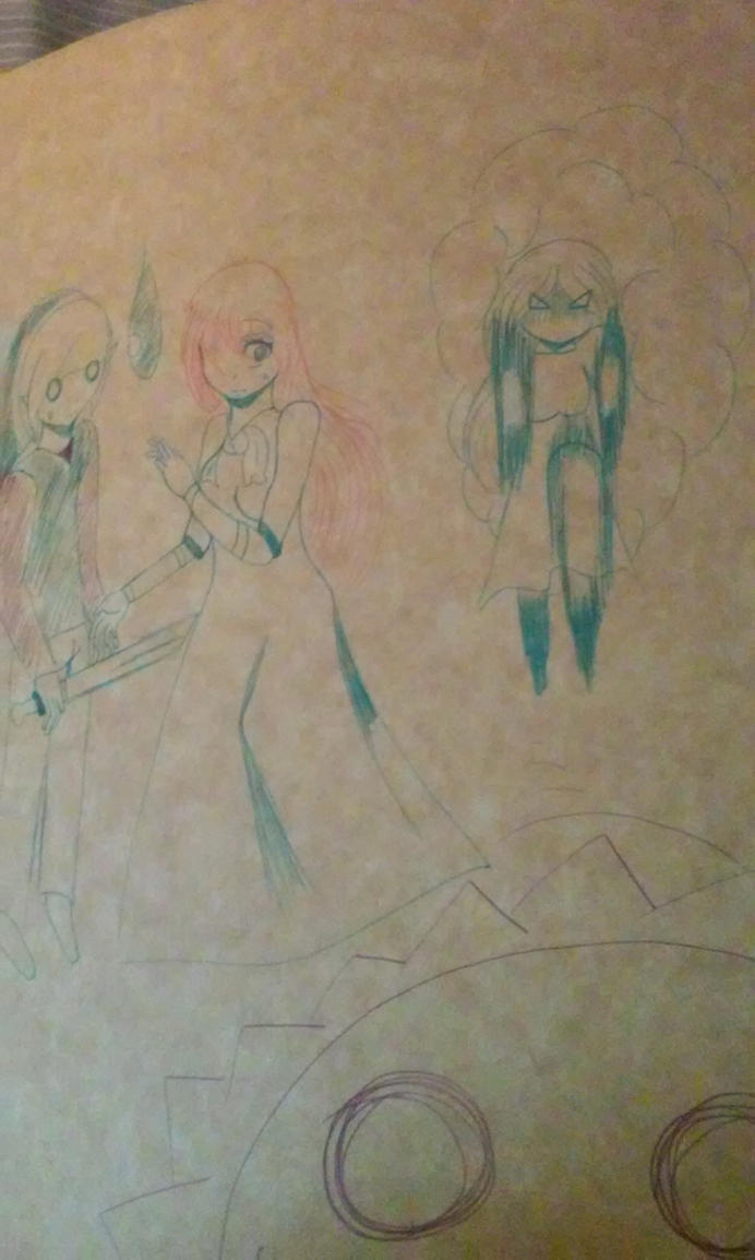 Old Draw: 4 friends by LoveYunaShina