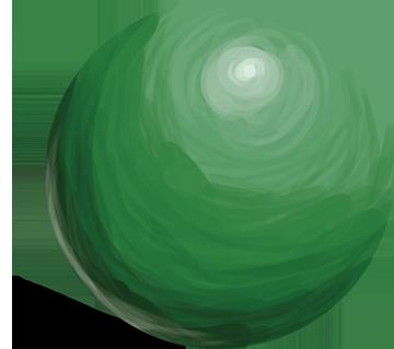 Green Ball 01 by alan-cooper