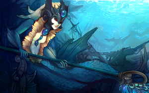 Nami - League of Legends by sharkees