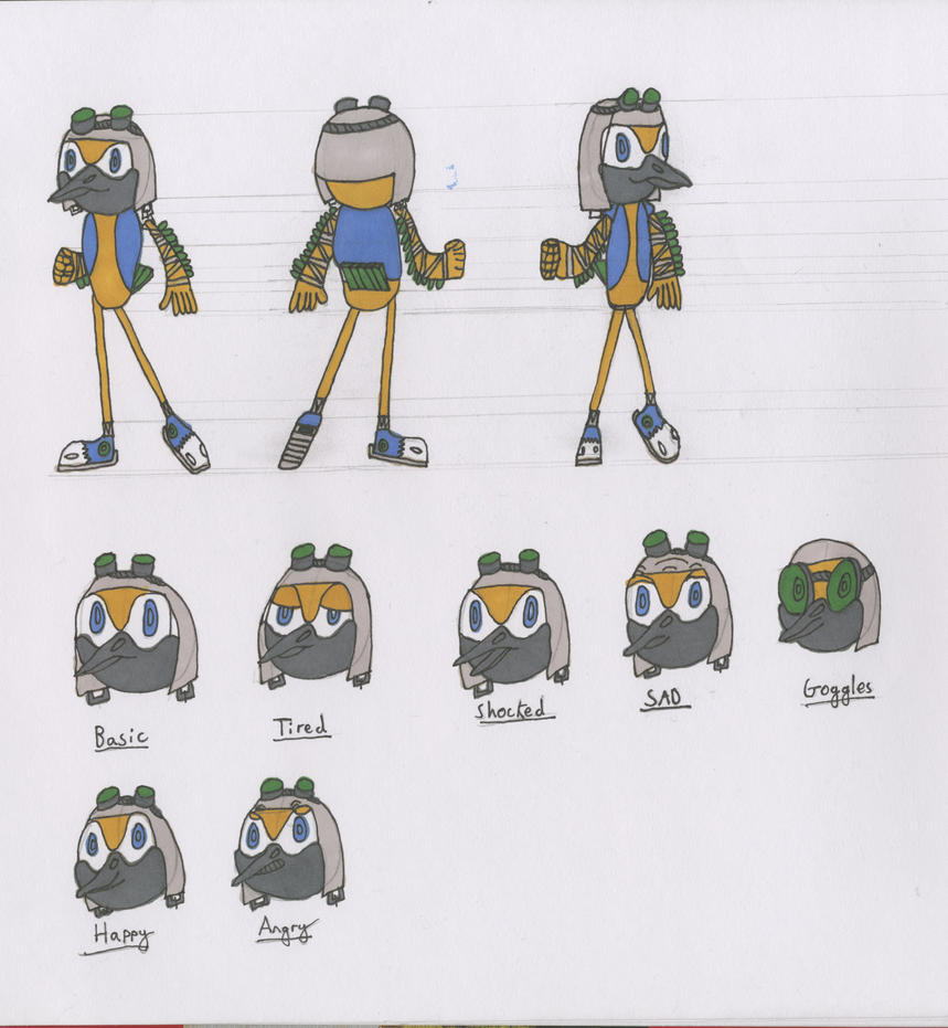 Character Design Course Description : Ploceidae the weaver d character design sheet by