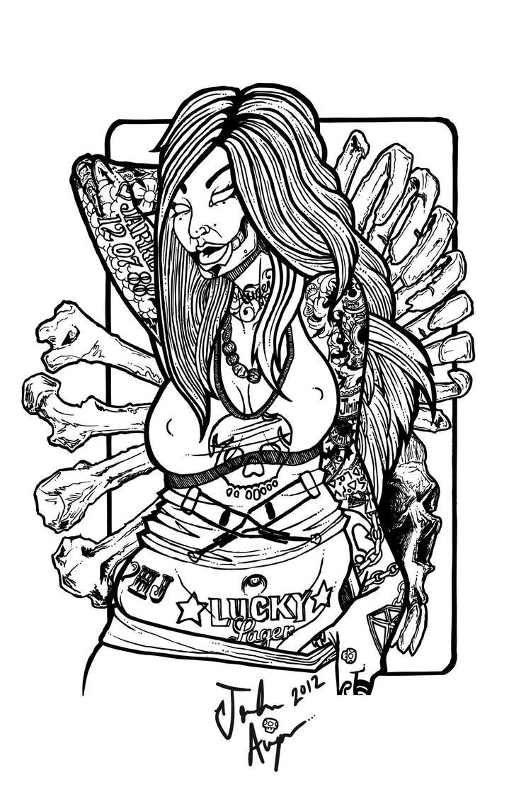 Zombie pin up girl. by OJayyy on DeviantArt