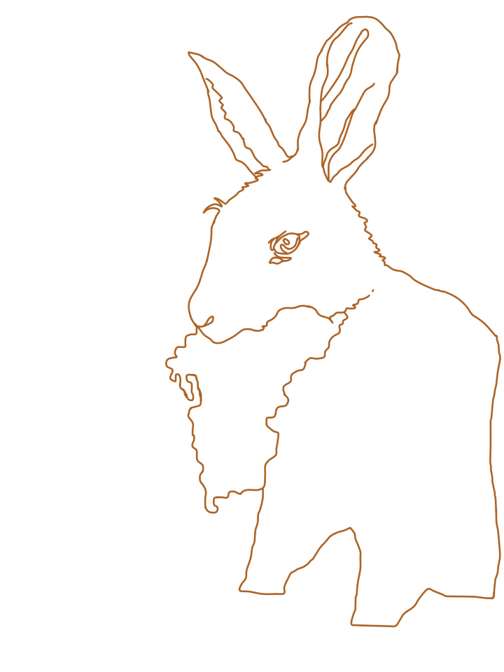 Rabbit line art by slytherenz