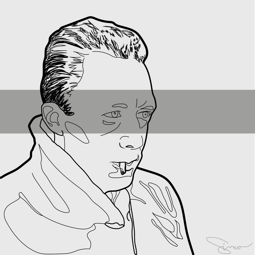 Albert Camus vector portrait by slytherenz