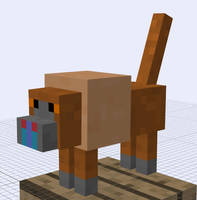 Minecraft Mob Idea - Baboon by RedPanda7