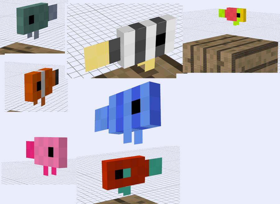 Minecraft mob ideas fish by redpanda7 on deviantart for Minecraft fish skin