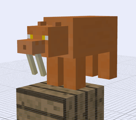 Cheshirecraft - Fossil Mobs, Smilodon