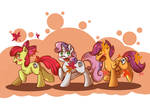 Cutiemark Crusaders wrapping up Autumn Days by tikrs007
