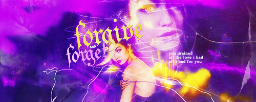 Forgive and Forget by ecstasyvi