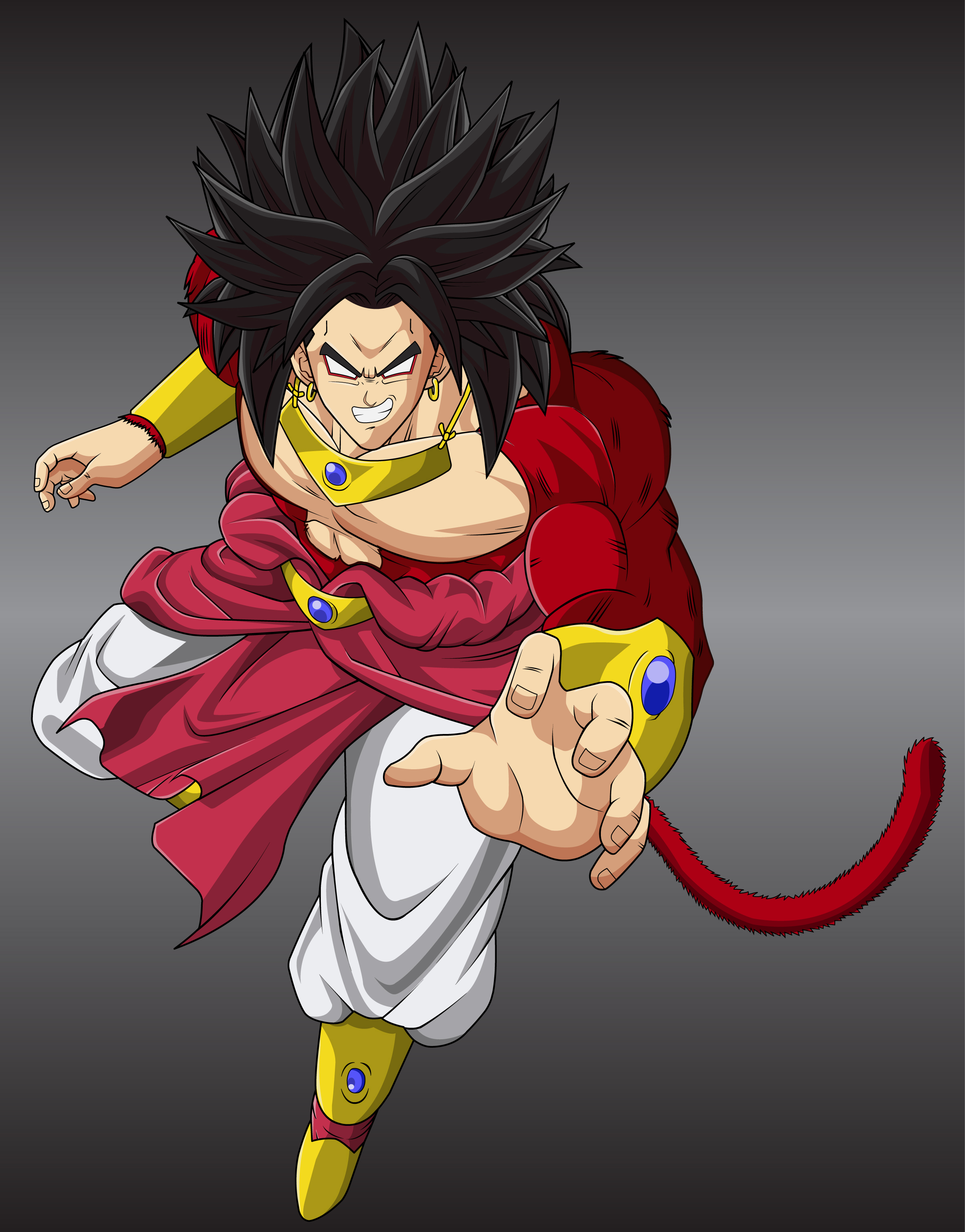 Another Broly SSJ4 by MasterRottweiler on DeviantArt
