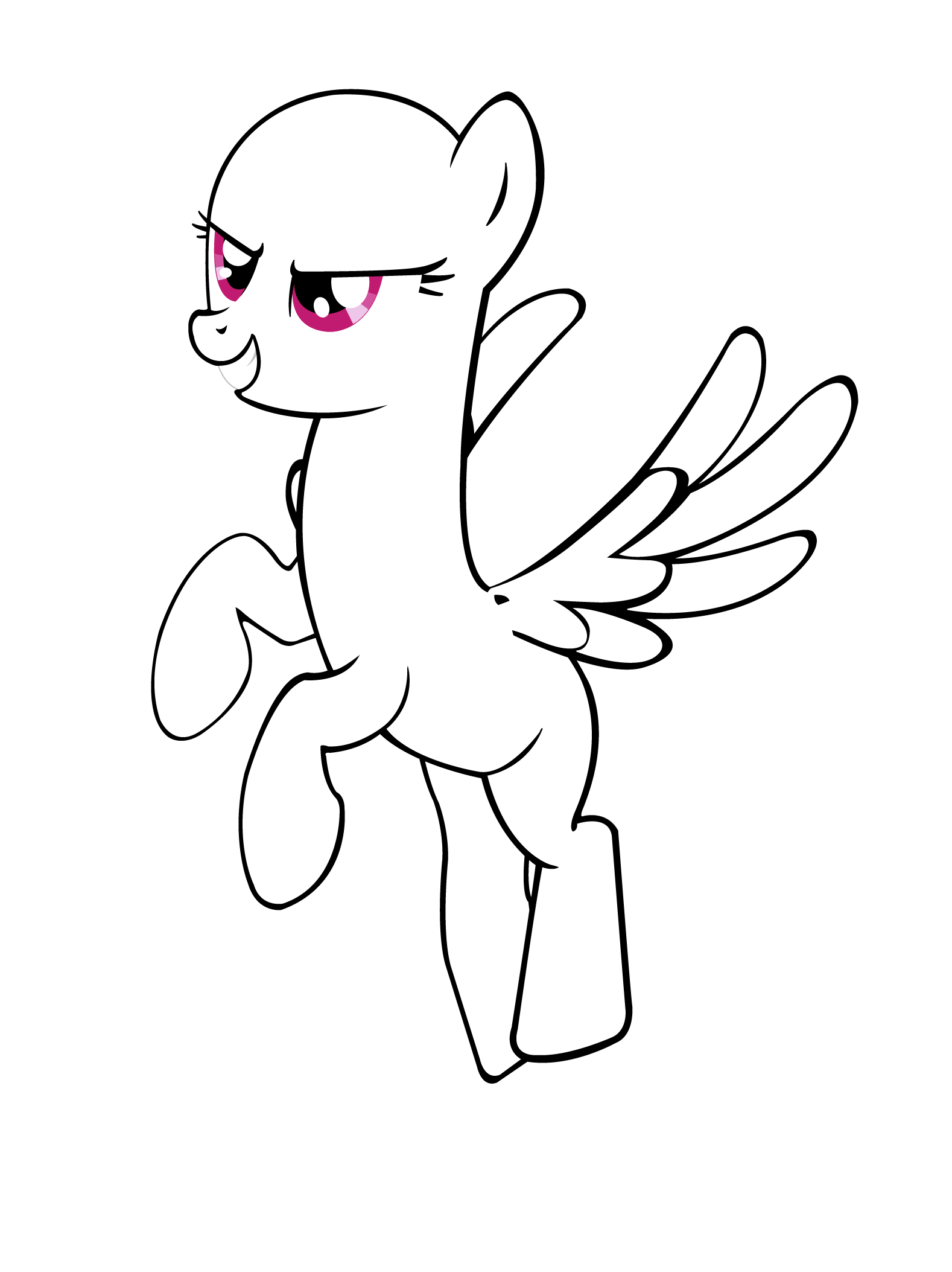 Another Pony base 03: Pegasus.