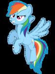 Flying Rainbow Dash vector.