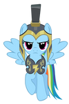 Rainbow Dash Hurricane Armor vector.