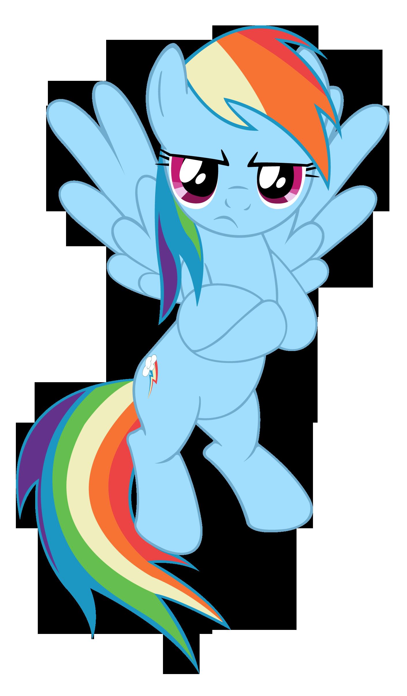 Angry Rainbow Dash by MasterRottweiler