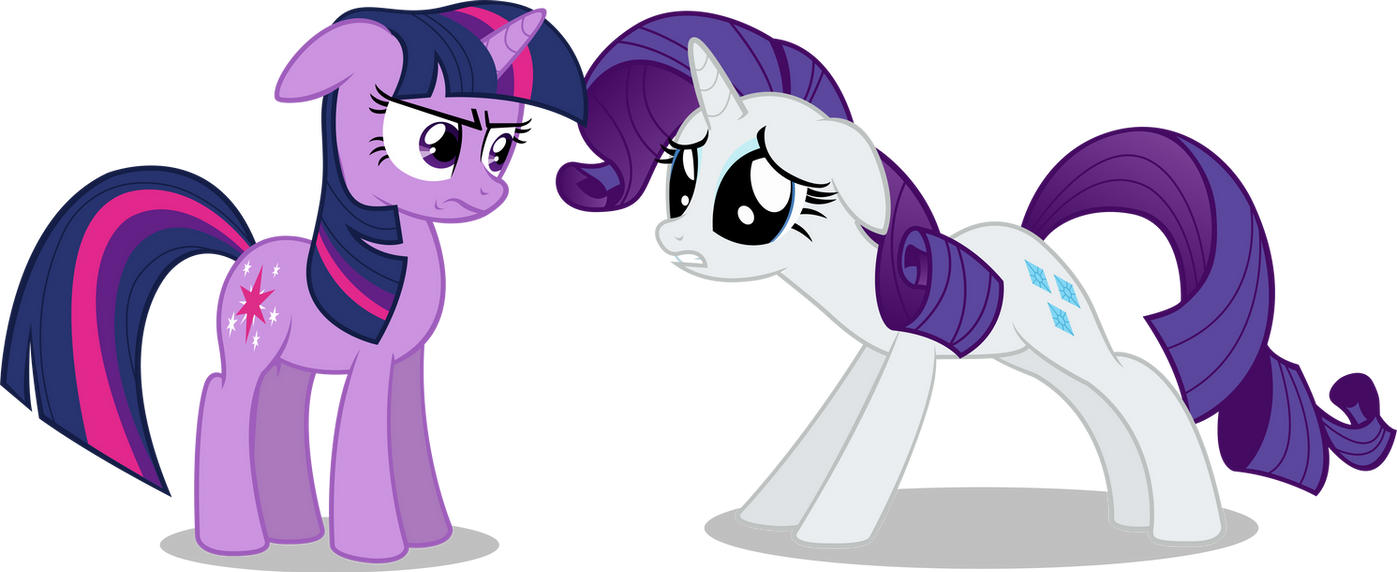 Twilight and Rarity by MasterRottweiler