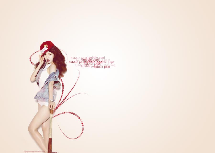 HyunA Bubble Pop Wallpaper by royalpinkuu on DeviantArt  HyunA Bubble Po...