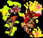 Wizard vs. Witch by somik