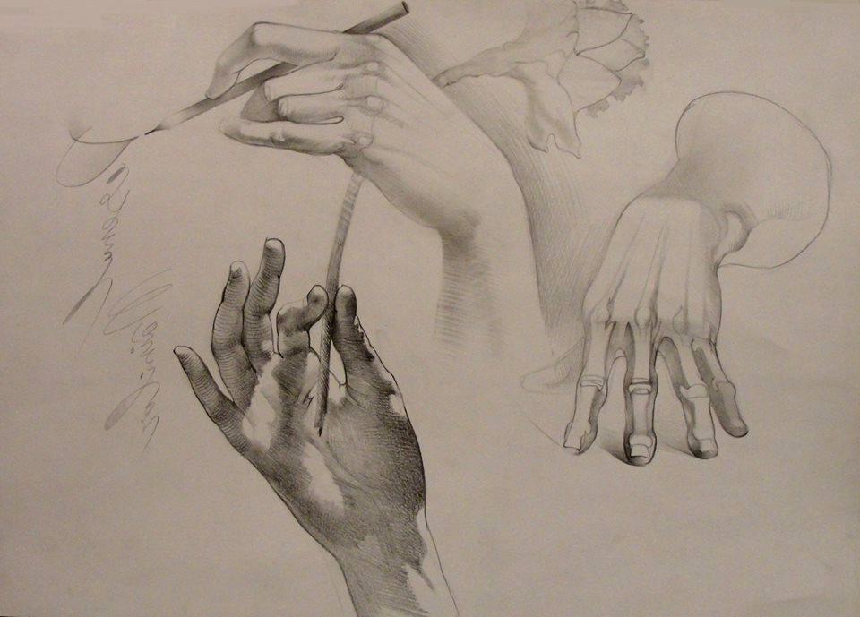 Drawing hands pencil sketches by adrianmoraru