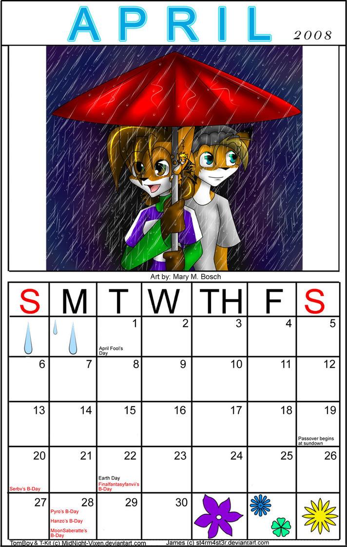 Gay art 2008 calendar