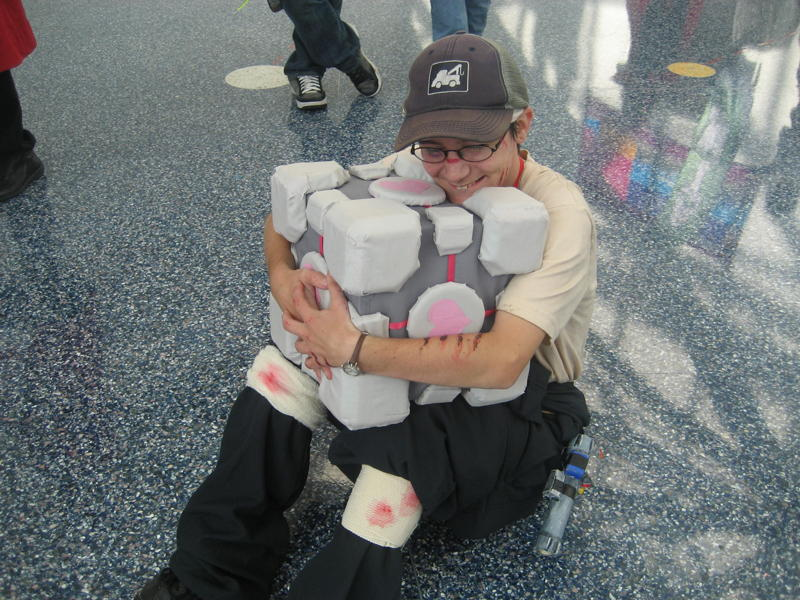 My Companion Cube by MidNight-Vixen