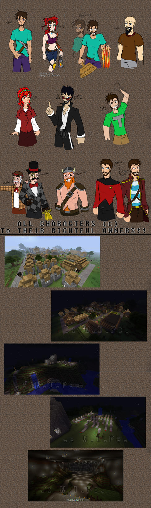 Minecraft Rolecall .:WIP:. by MidNight-Vixen