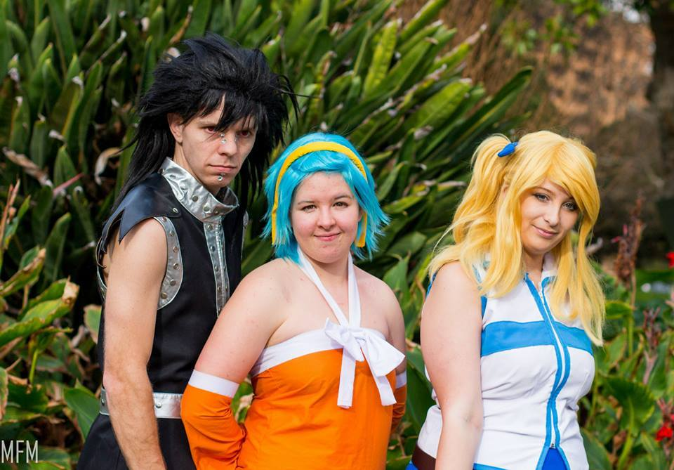 lucy levy and gajeel fairy tail cosplay by mio kitsui on deviantart