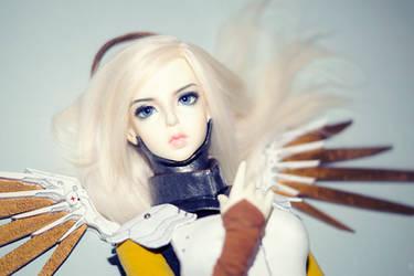 Overwatch Mercy cosplay 4 by Nu-Da-Tee