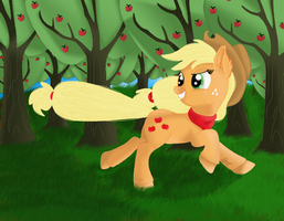 AppleBucking season-AppleJack by ShadowWing34