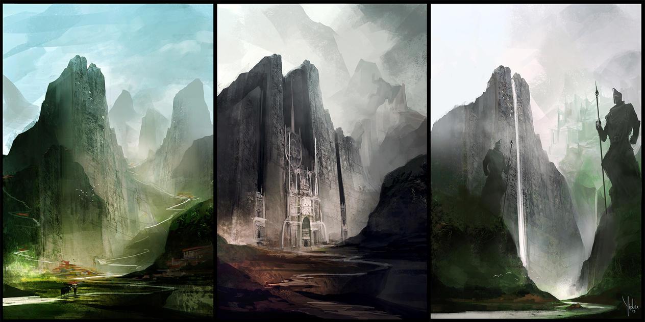 Three peaks. by Yip-Lee
